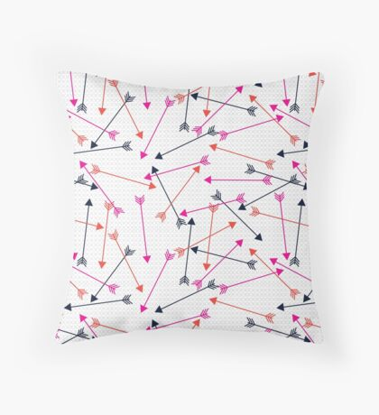 Arrows of Love Pattern Throw Pillow
