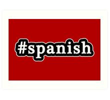 Spanish - Hashtag - Black & White Art Print