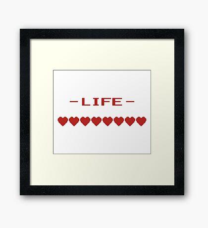 Video Game Heart Life Meter Framed Print