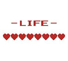 Video Game Heart Life Meter Photographic Print