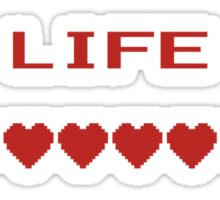 Video Game Heart Life Meter Sticker