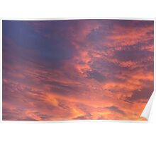 Cloudy Sky at Sunset Poster