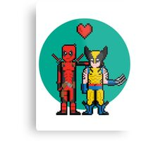 Deadpool Heart Wolverine  Metal Print