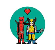Deadpool Heart Wolverine  Photographic Print