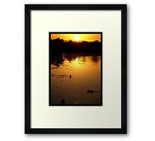 Natural Gold Framed Print