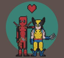 Deadpool Heart Wolverine  Kids Clothes