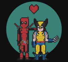 Deadpool Heart Wolverine  Kids Clothes