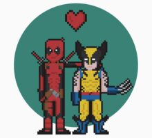 Deadpool Heart Wolverine  by The World Of Pootermobile