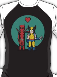 Deadpool Heart Wolverine  T-Shirt