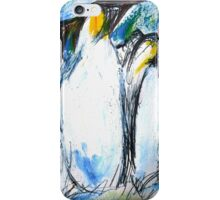 Penguins Acrylics And Ink iPhone Case/Skin