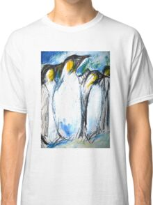 Penguins Acrylics And Ink Classic T-Shirt