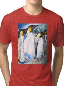 Penguins Acrylics And Ink Tri-blend T-Shirt