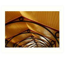 Above, Queenscliff Pier Shelter Shed Art Print
