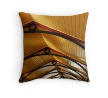 Above, Queenscliff Pier Shelter Shed Throw Pillow