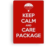 Keep Calm - Care Package Canvas Print