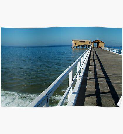 Sunny Day, Queenscliff Pier Poster