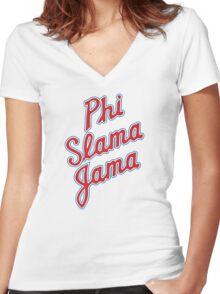Phi Slama Jama Women's Fitted V-Neck T-Shirt