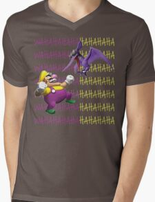 Wario versus a Cractyl Mens V-Neck T-Shirt