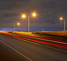 Corner at night by John Jovic