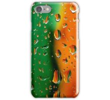 Wet colors- green and orange iPhone Case/Skin