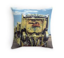 Rise and Fall of the American Cadillac Throw Pillow