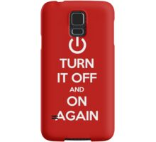 Keep Calm - Turn It Off and On Again Samsung Galaxy Case/Skin