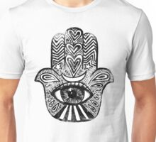Hamsa - Amulet for Magical Protection & Good Luck. Unisex T-Shirt