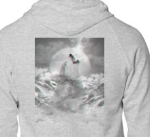 Maybe the Wolf Is In Love with the Moon Zipped Hoodie