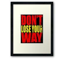 Don't Loose Your Way (Kill La Kill) Framed Print