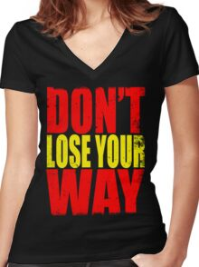 Don't Loose Your Way (Kill La Kill) Women's Fitted V-Neck T-Shirt