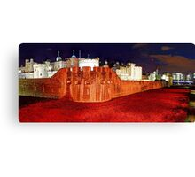 The Tower of London Poppies - 1 Canvas Print