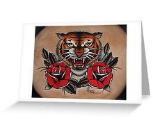 Tiger - TATTOO Greeting Card