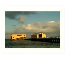 Passing Storm, Queenscliff Pier Art Print