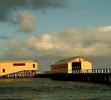 Passing Storm, Queenscliff Pier by Joe Mortelliti