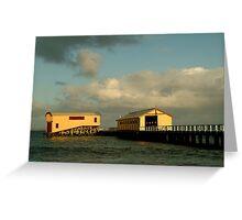 Passing Storm, Queenscliff Pier Greeting Card