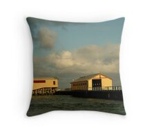 Passing Storm, Queenscliff Pier Throw Pillow