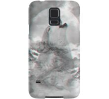 Maybe the Wolf Is In Love with the Moon v.2 (Actual 3D Effect) Samsung Galaxy Case/Skin
