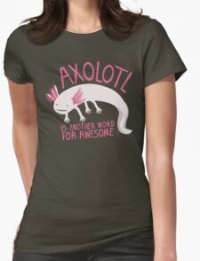 Another Word for Awesome Womens Fitted T-Shirt