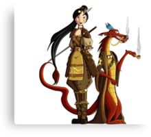 Mulan Steampunk  Canvas Print