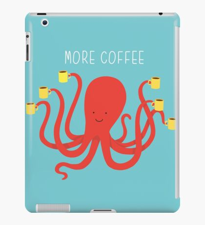 more coffee iPad Case/Skin
