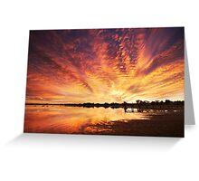 Splendour Of Dawn - Lake Albert, Meningie Greeting Card