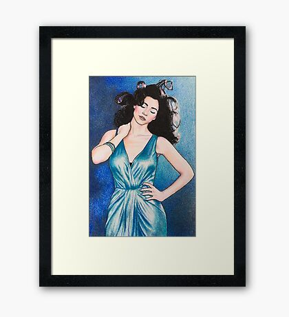 """Marina and the Diamonds 5 - """"I've been saving all my summers for you"""" Framed Print"""