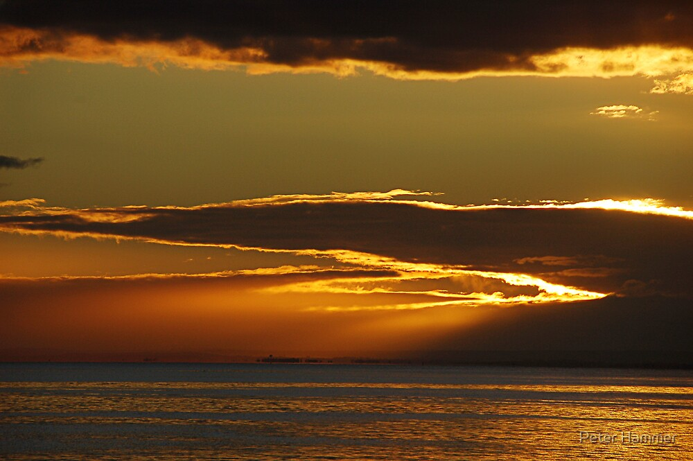 Black Rock sunset by Peter Hammer