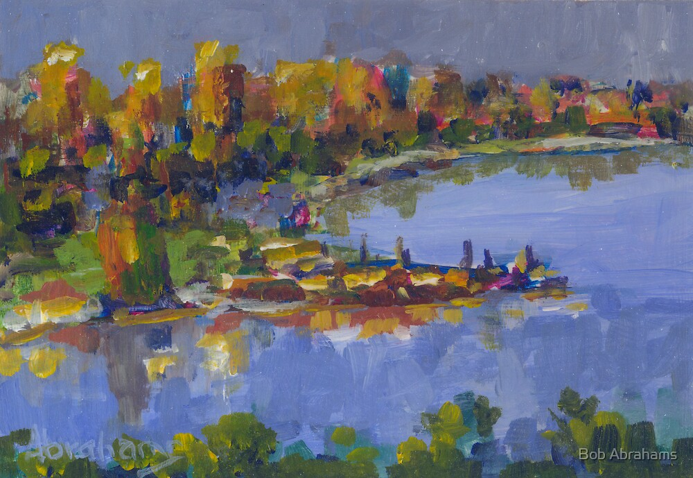 SUNSET CITY SWAN RIVER  by Bob Abrahams
