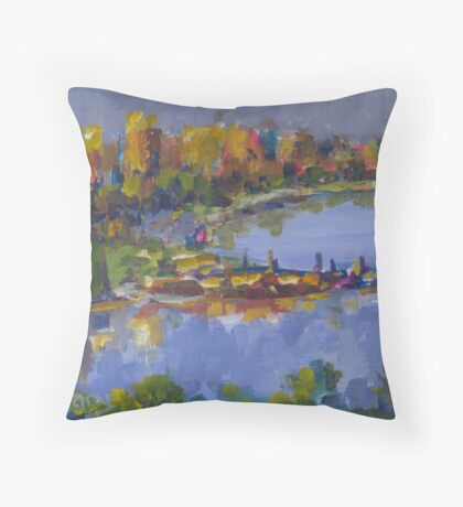SUNSET CITY SWAN RIVER  Throw Pillow