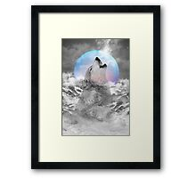 Maybe the Wolf Is In Love with the Moon Framed Print