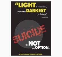 """Light is everywhere..."", Suicide Awareness Campaign by Chris Dixon"
