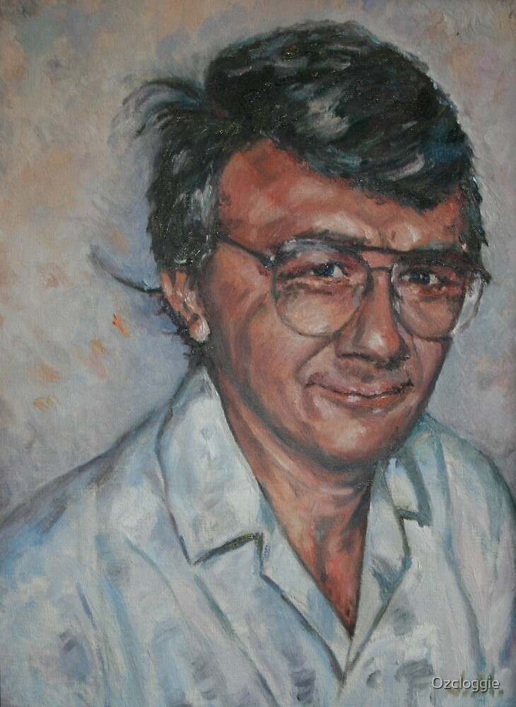 Self-portrait, from photo, taken in 1981. by Ozcloggie