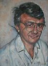 Self-portrait, from photo, taken in 1981. by Ozcloggie