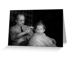 Barber - First Haircut Greeting Card